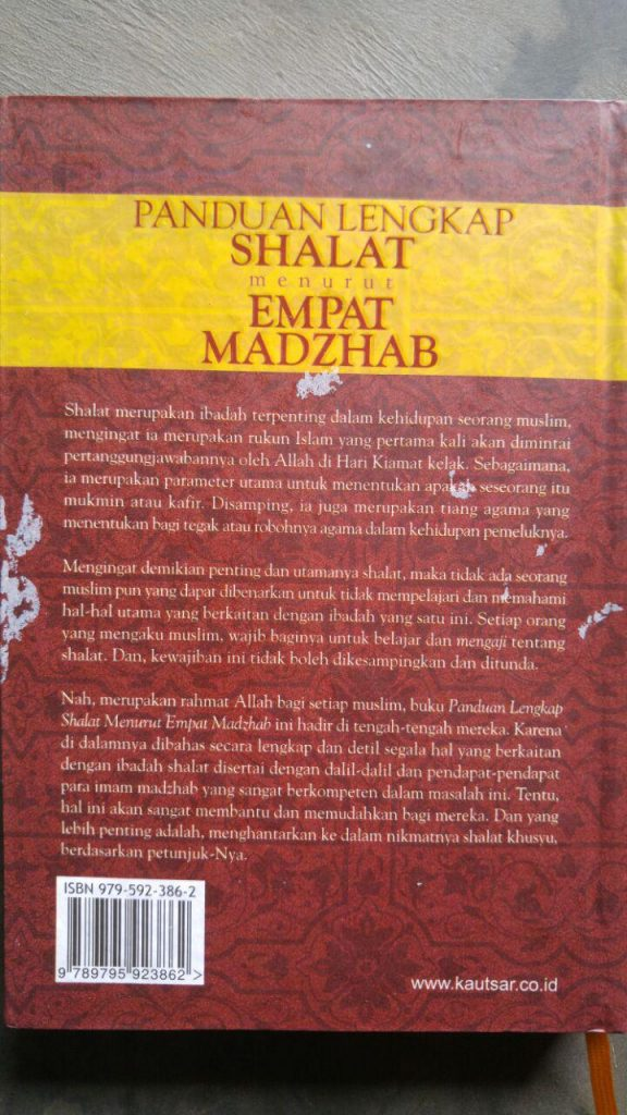 Buku Panduan Shalat Lengkap Menurut Empat Madzhab cover 2