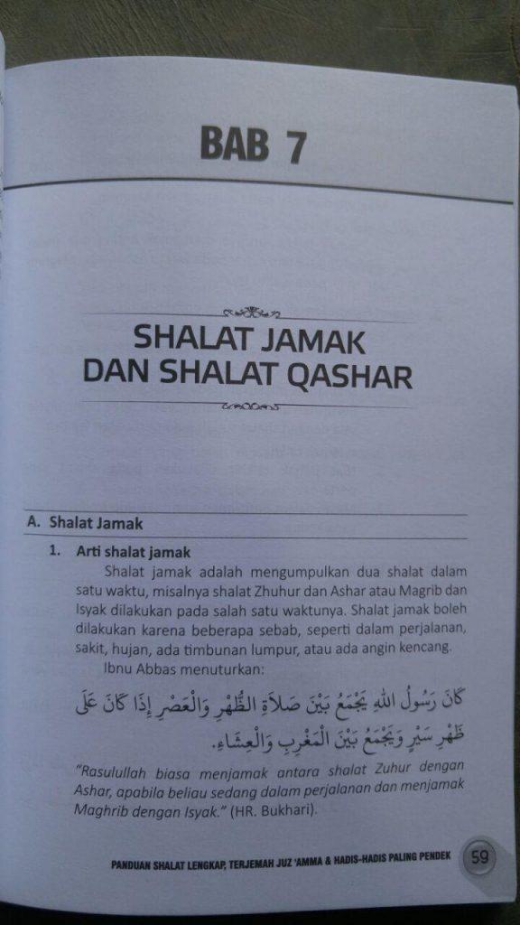 Buku Panduan Shalat Lengkap Terjemah Juz Amma Hadis Pilihan isi 2