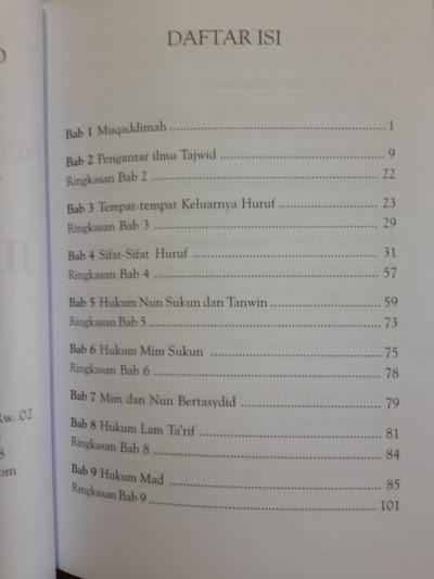 Buku Pedoman Daurah Al-Qur'an Panduan Ilmu Tajwid Daftar Isi