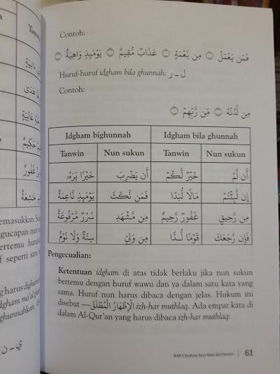 Buku Pedoman Daurah Al-Qur'an Panduan Ilmu Tajwid Isi