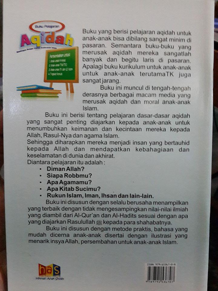 Buku Anak Pelajaran Aqidah Anak Islam Cover 2