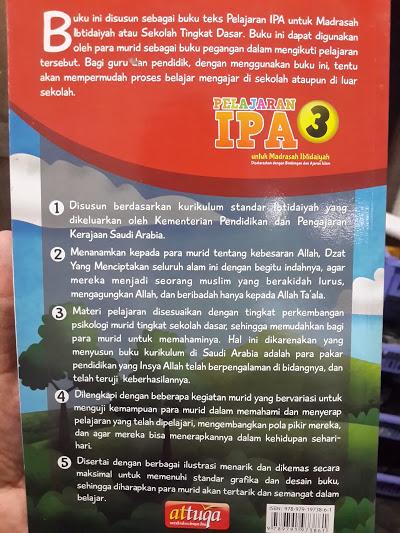 Buku Pelajaran IPA Untuk Madrasah Ibtidaiyah Cover 2