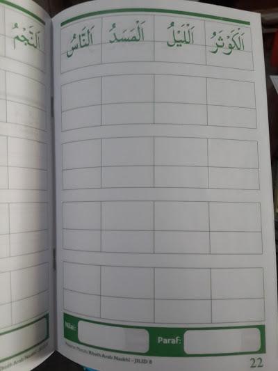 Buku Pelajaran Menulis Khoth Arab Naskhi Isi 1
