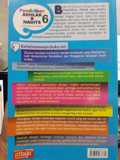 Buku Pendidikan Akhak Dan Hadits Untuk Madrasah Ibtidaiyah Cover 2
