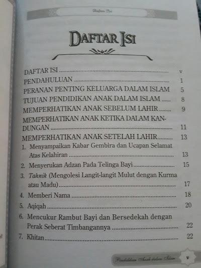 Buku Pendidikan Anak Dalam Islam Isi