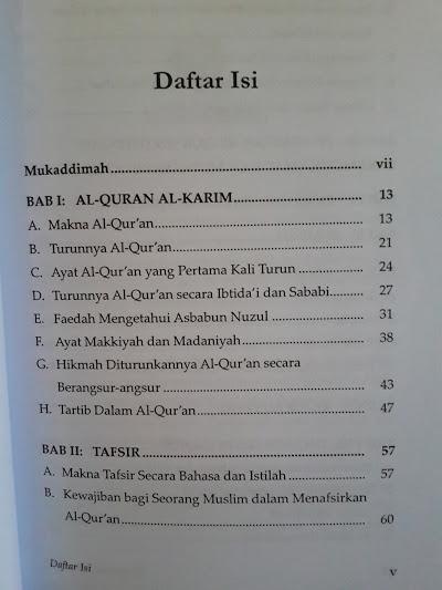 Buku Pengantar Ilmu Tafsir Daftar Isi