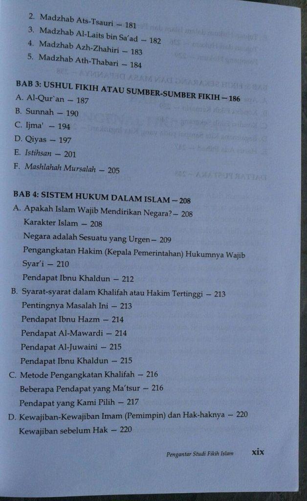 Buku Pengantar Studi Fikih Islam isi 3