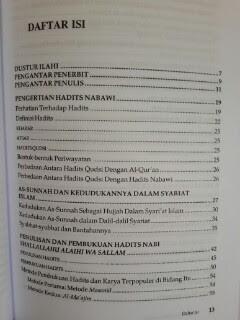 Buku Pengantar Studi Ilmu Hadits Daftar Isi
