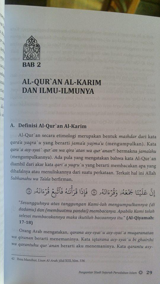 Buku Pengantar Studi Sejarah Peradaban Islam isi