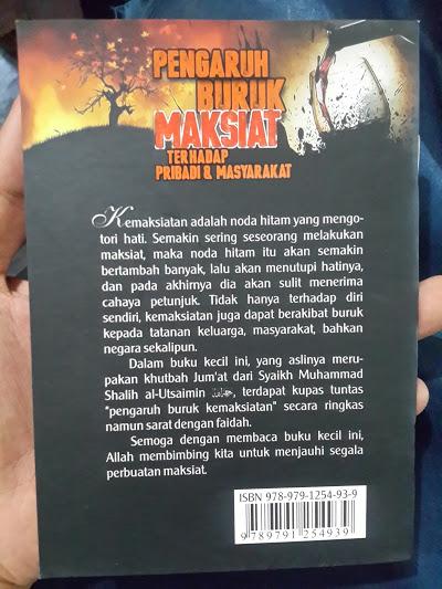 Buku Pengaruh Buruk Maksiat Terhadap Pribadi Masyarakat Cover 2