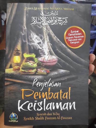 Buku Penjelasan Pembatal Keislaman Cover