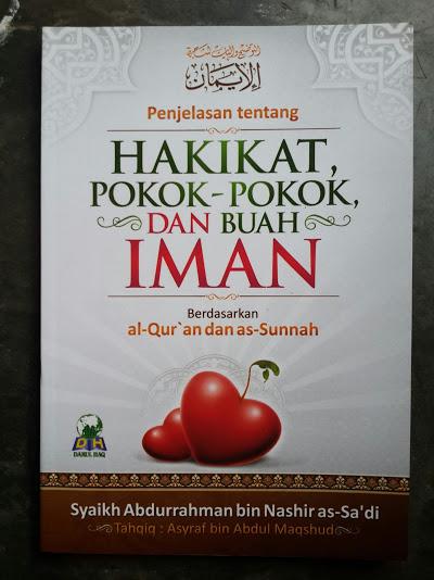 Buku Penjelasan Tentang Hakikat Pokok Pokok Dan Buah Iman Cover