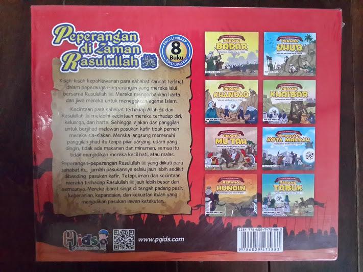 Buku Anak Peperangan Di Zaman Rasulullah Cover Belakang