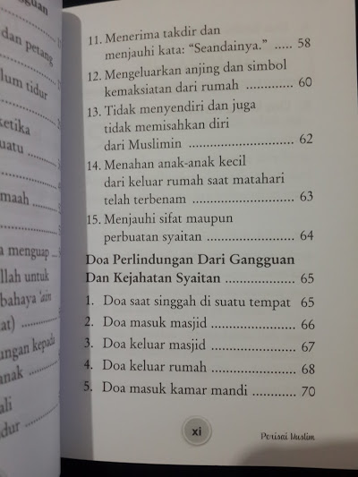 Buku Perisai Muslim Dari Syaitan Jin Bintang Kejahatan Mata Daftar Isi