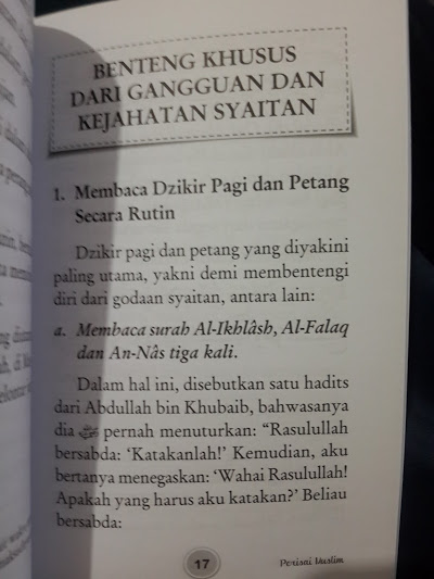 Buku Perisai Muslim Dari Syaitan Jin Bintang Kejahatan Mata Isi