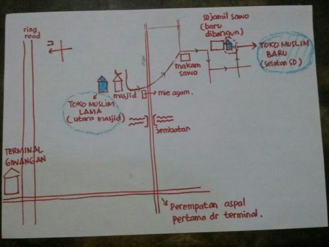 Peta Denah Toko Muslim