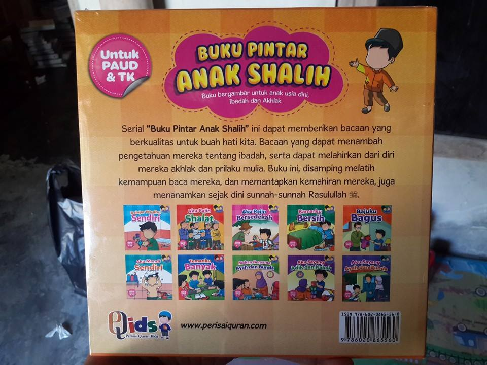Buku Anak Bergambar Pintar Anak Shalih Cover 2
