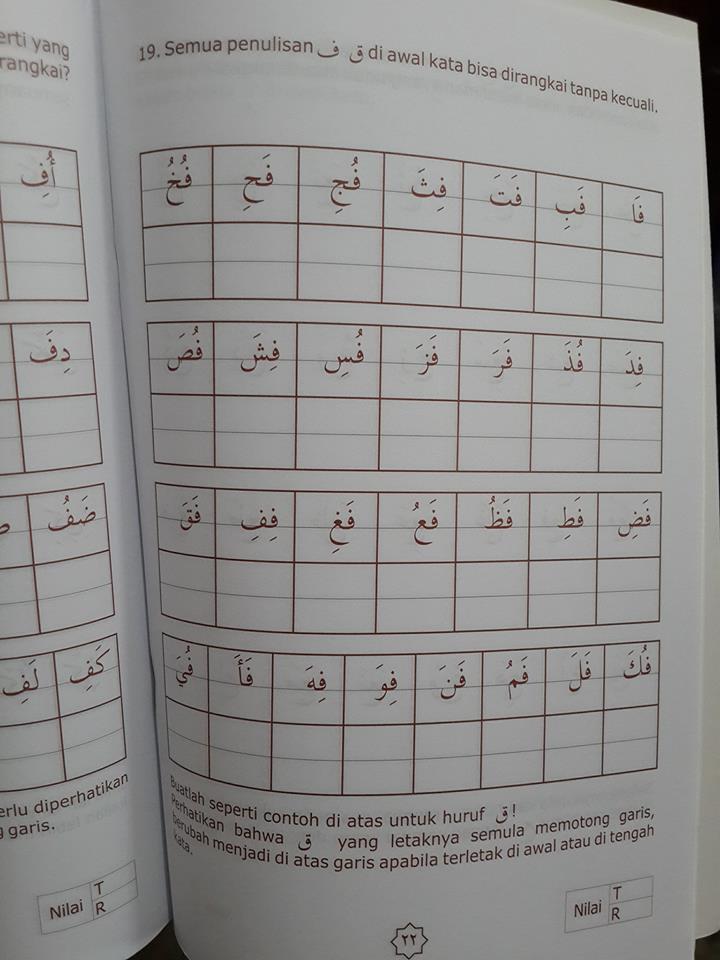 Buku Anak Pintar Menulis Arab Isi 2