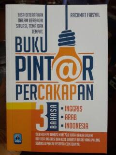 Buku Pintar Percakapan 3 Bahasa Inggris Arab Indonesia Cover