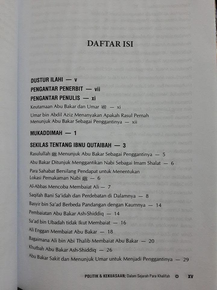 Buku Politik Dan Kekuasaan Dalam Sejarah Para Khalifah isi 2