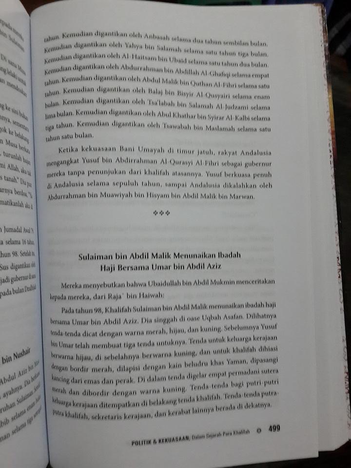 Buku Politik Dan Kekuasaan Dalam Sejarah Para Khalifah isi