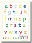 Poster Belajar Huruf Abjad Anak-Anak Huruf Kecil