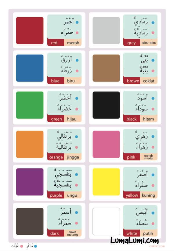 Poster Belajar Mengenal Warna Untuk Anak-Anak Big