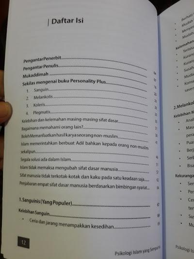 Buku Psikologi Islam Yang Sempurna Daftar Isi