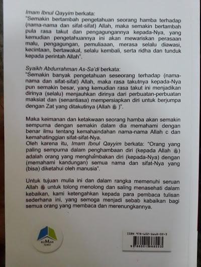 Buku Puncak Kemahaindahan Asmaul Husna Cover Belakang