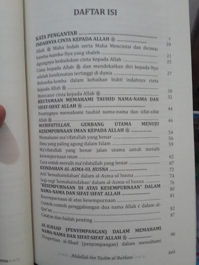 Buku Puncak Kemahaindahan Asmaul Husna Daftar Isi