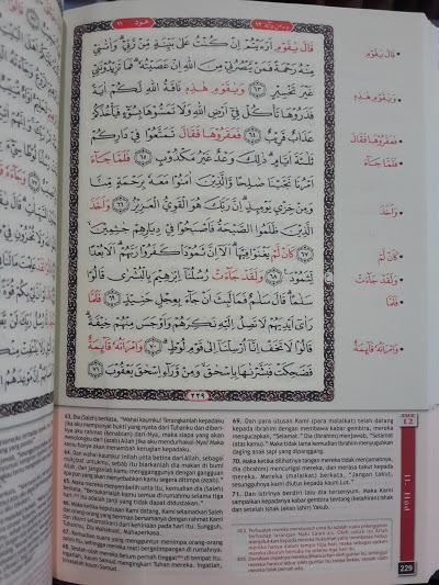 Qur'an Hafalan Dan Terjemahan Ukuran A6 Isi