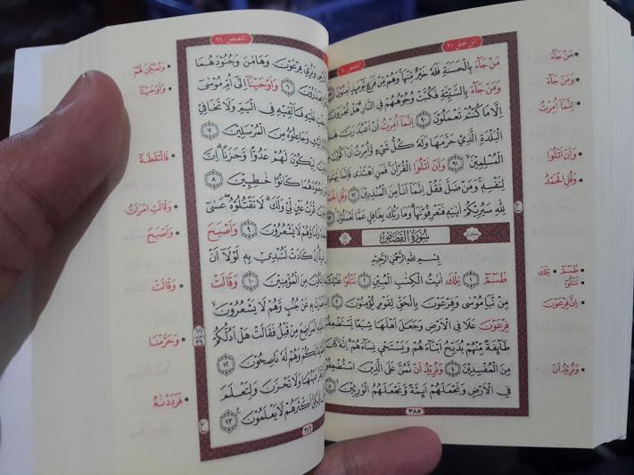 Qur'an Hafalan Tanpa Terjemah Ukuran Saku Isi