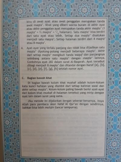 Qur'an Hafalan Tikrar Ukuran A5 Isi 3
