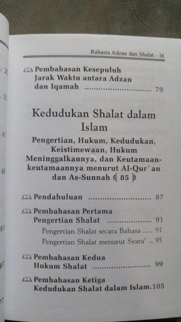 Buku Rahasia Adzan & Shalat Dalam Al-Quran Dan As-Sunnah isi