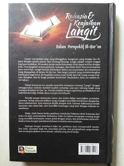 Buku Rahasia Dan Keajaiban Langit Dalam Perspektif Al-Qur'an Cover Belakang