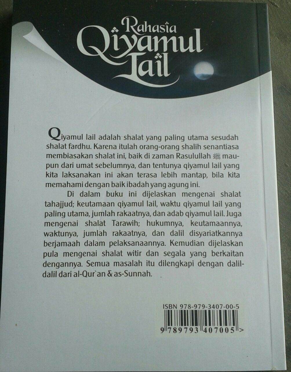 Buku Qiyamul Lail Hukum Tata Cara Dan Keutamaannya cover 2