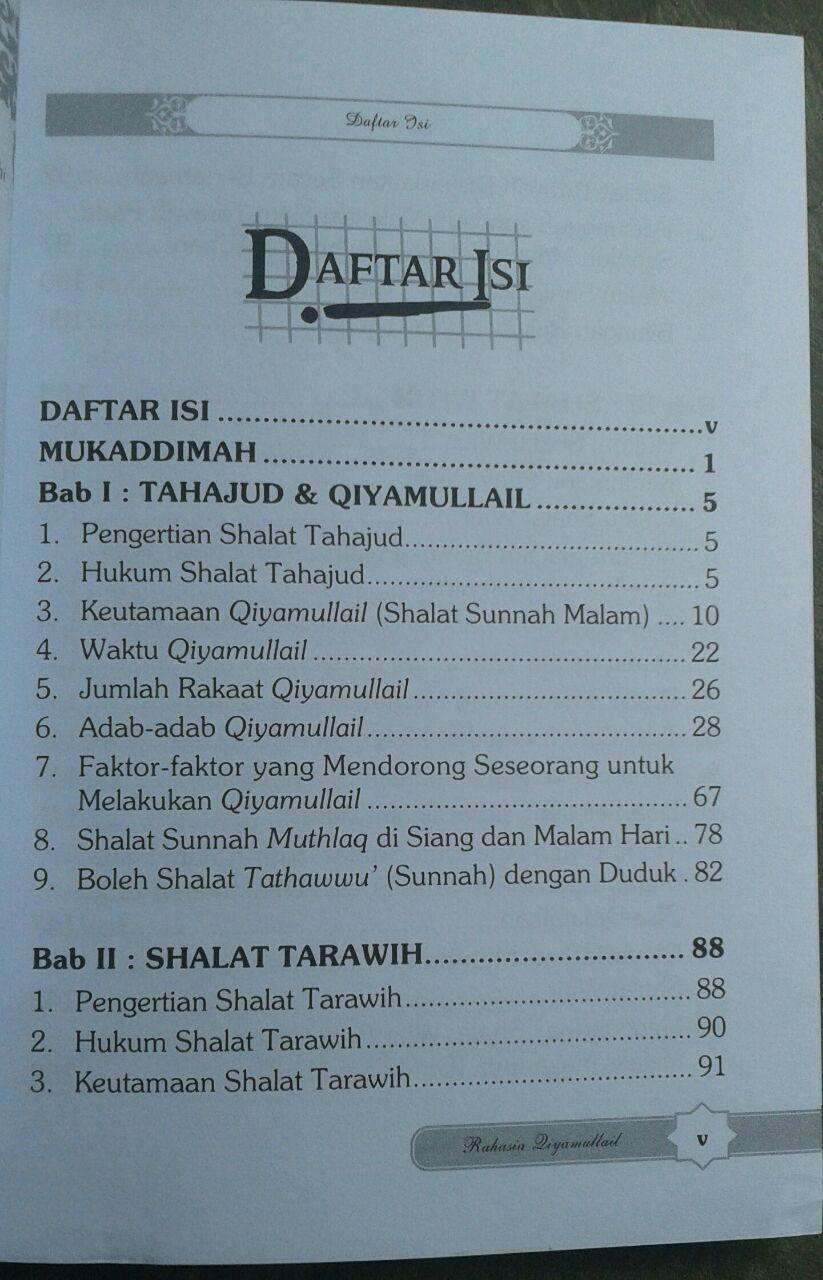 Buku Qiyamul Lail Hukum Tata Cara Dan Keutamaannya isi 4