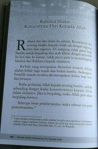 Buku Rahasia Shalat Menurut Ibnul Qayyim isi 5