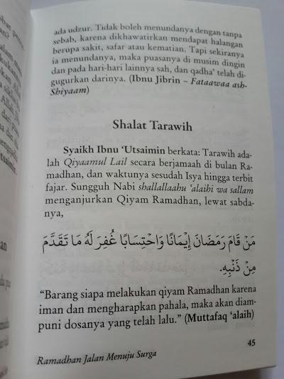 Buku Saku Ramadhan Jalan Menuju Surga Isi