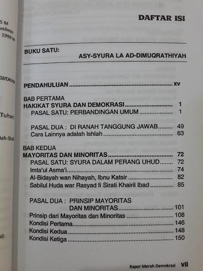 Buku Rapor Merah Demokrasi Daftar Isi