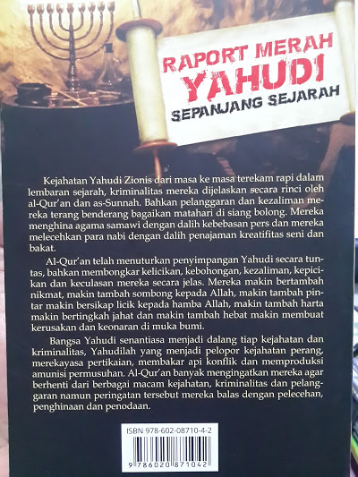 Buku Raport Merah Yahudi Sepanjang Sejarah Cover 2