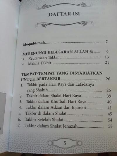 Buku Saku Renungan Takbir Daftar Isi