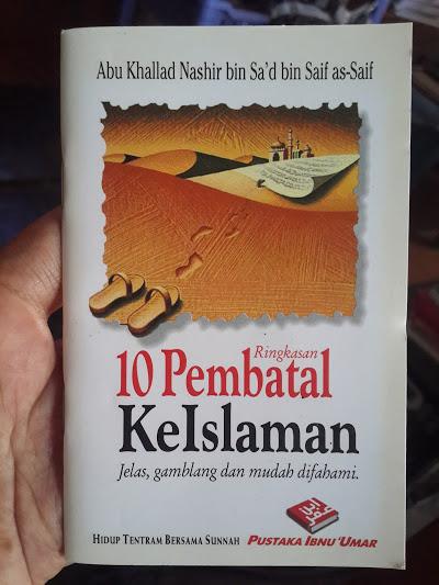 Buku Saku Ringkasan 10 Pembatal Keislaman Cover