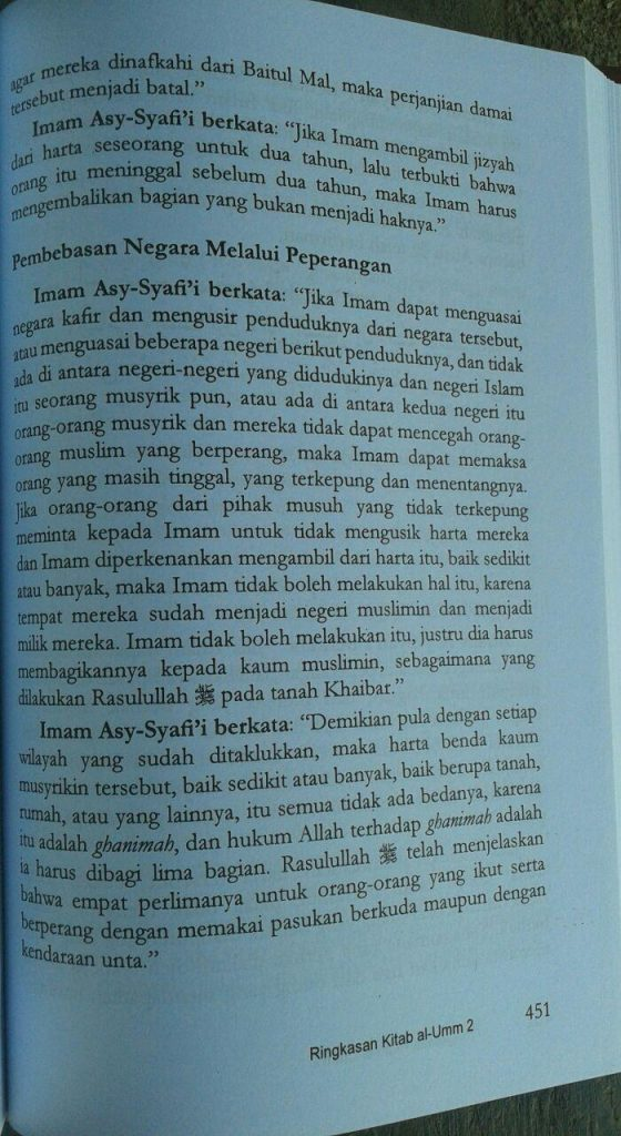 Ringkasan Al-Umm 1 Set 2 Jilid isi 4