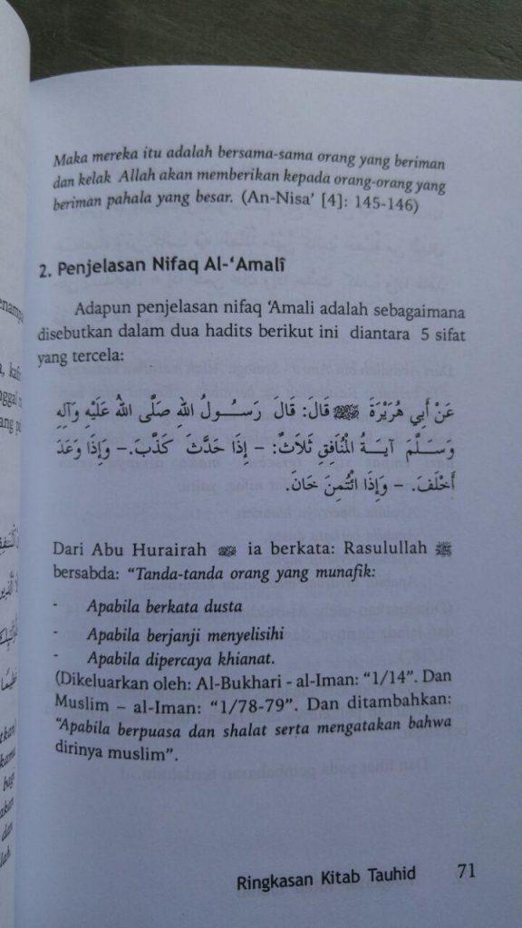 Buku Ringkasan Kitab Tauhid Rekomendasi 7 Ulama Salaf isi 2