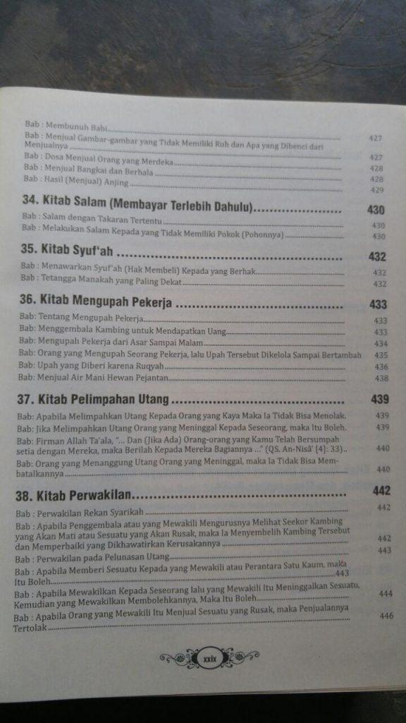 Buku Ringkasan Shahih Bukhari isi