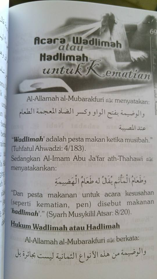 Buku Risalah Macam-macam Walimah Dalam Pandangan Islam isi