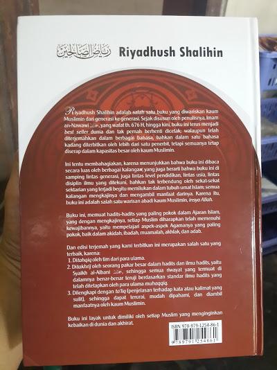 Buku Terjemah Riyadhus Shalihin Imam Nawawi Cover Belakang