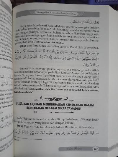 Buku Terjemah Riyadhus Shalihin Imam Nawawi Isi