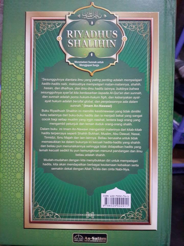 Buku Riyadhus Shalihin Meneladani Sunnah Menggapai Surga Cover 2